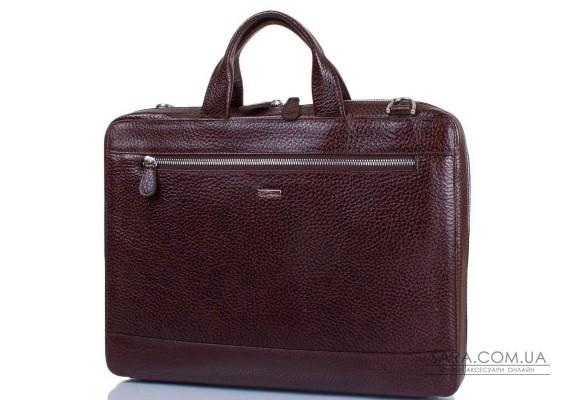 """Чоловіча шкіряна сумка з відділенням для ноутбука з діагоналлю екрана до 12,6 """"DESISAN SHI1347-019"""