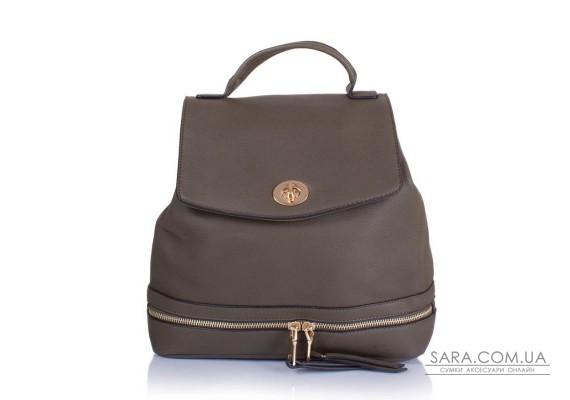 Женский рюкзак из качественного кожезаменителя и ткани AMELIE GALANTI (АМЕЛИ ГАЛАНТИ) A981219-khaki