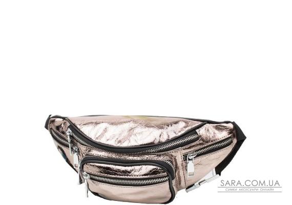 Жіноча шкіряна поясна сумка VITO TORELLI VT-8860-bronze