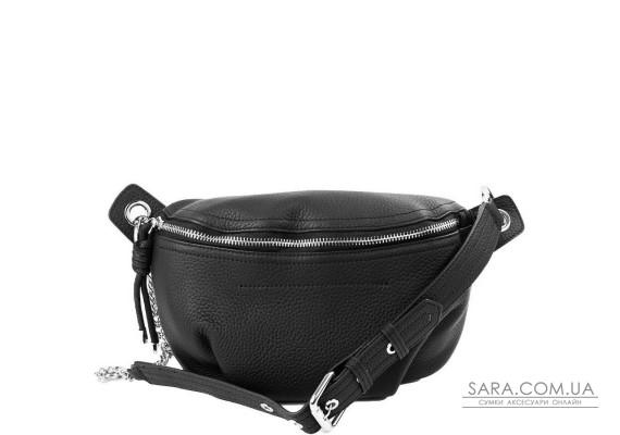 Жіноча шкіряна поясна сумка VITO TORELLI VT-9395-black