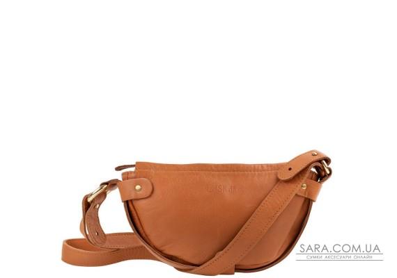 Жіноча шкіряна сумка-клатч LASKARA LK-DM232-cognac
