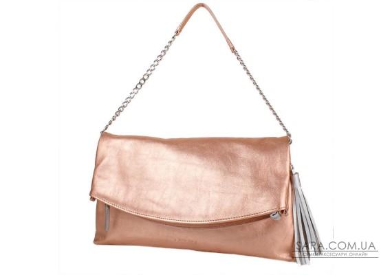 Жіноча шкіряна сумка LASKARA LK-DS259-rose-gold