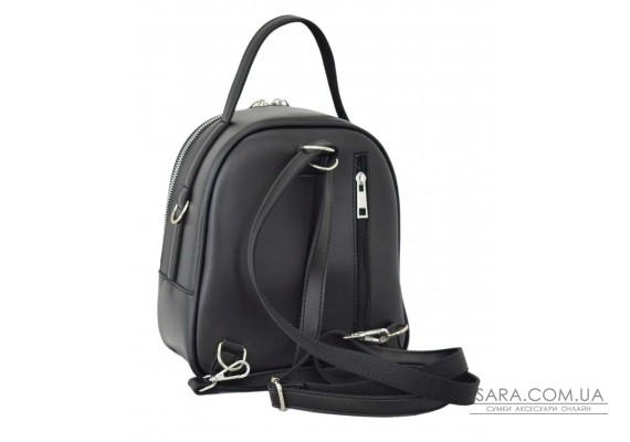 670 рюкзак замша черный Lucherino