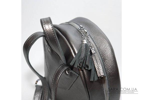 Жіночий шкіряний рюкзак B020115-nikel нікель
