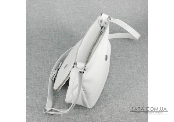 Сумка шкіряна жіноча через плече S190105-white біла