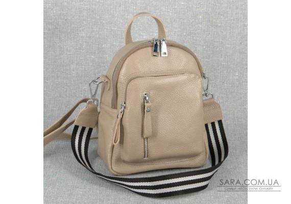 Жіночий шкіряний рюкзак B070113-capucino капучіно