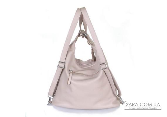 Жіночий шкіряний рюкзак-трансформер B530113-capucino капучіно