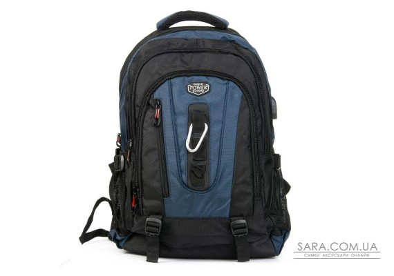 Рюкзак Міський нейлон Power In Eavas 8215 black-blue