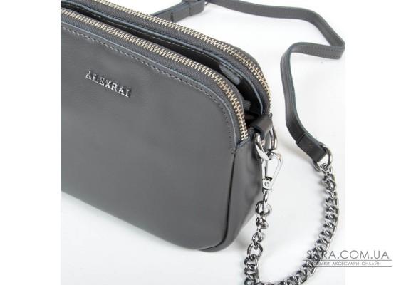 Сумка Жіноча Класична шкіра ALEX RAI 05-01 8701 grey