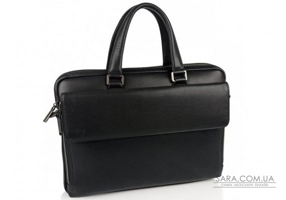 Класична чоловіча чорна шкіряна сумка Tiding Bag SM8-21007-1A