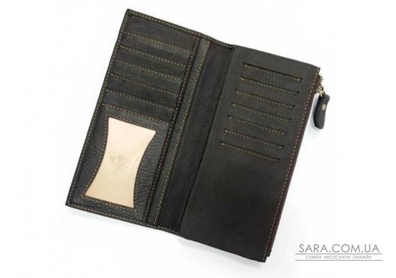 Портмоне мужское черное Tiding Bag t0058A