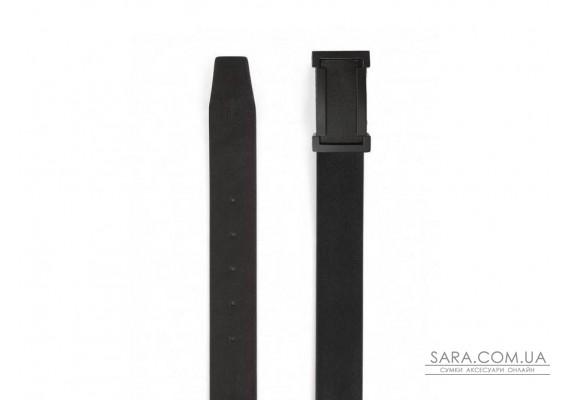 Ремень мужской кожаный черный с гладкой фактурой Colmen S-R01-A102A