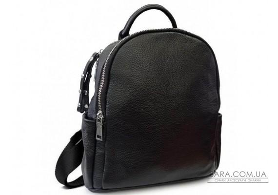 Жіночий стильний чорний шкіряний рюкзак Olivia Leather F-FL-NWBP27-015A