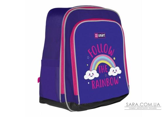 """Рюкзак шкільний SMART H-55 """"Follow the rainbow"""", фіолетовий"""