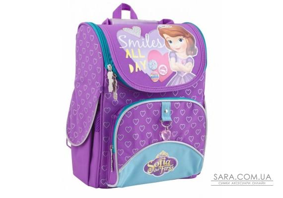 Рюкзак шкільний каркасний 1 Вересня H-11 Sofia purple, 34*26*14