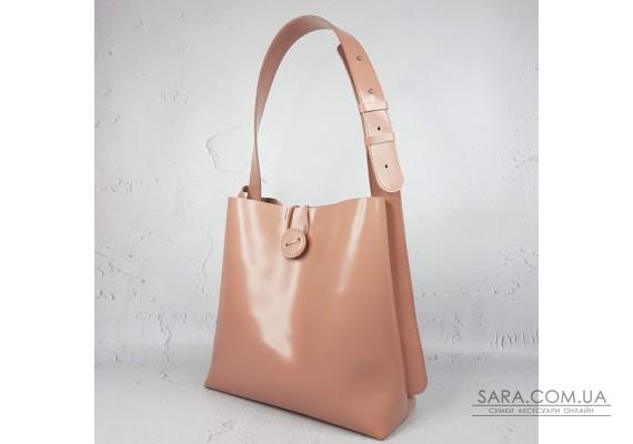 "Сумка-шопер ""Барбара"" натуральна шкіра, рожева матова Anko"