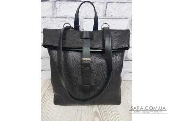 "Рюкзак-сумка ""Бонд"" натуральная кожа, черный флотар Anko"