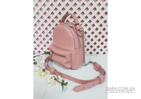 "Рюкзак-сумка""Мини"" натуральная кожа, розовый флотар Anko"