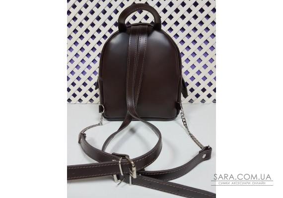 "Рюкзак ""Шайн"" натуральная кожа, коричневая матовая Anko"