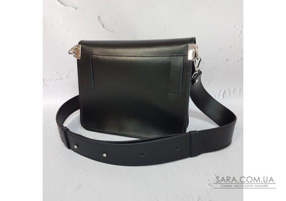 """Поясная сумка """"Армандо"""" натуральная кожа, черная матовая Anko"""