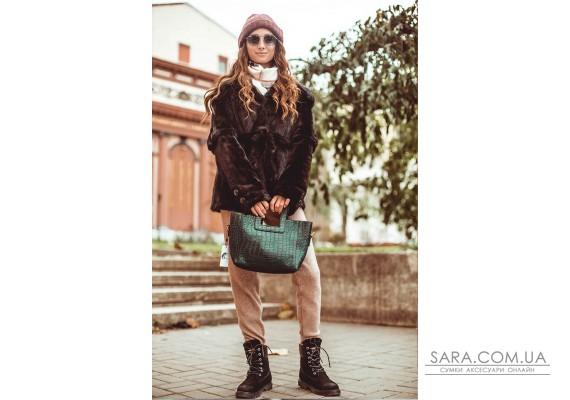 Женская сумка Gloria XS (Глория) маленькая с косметичкой CROCO Astory Designer Bags