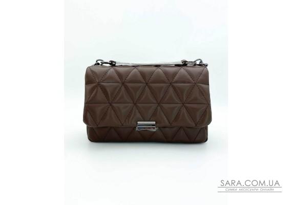 Женская сумка «Обри» шоколадная WeLassie