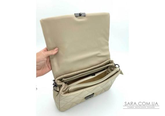 Женская сумка «Обри» бежевая WeLassie