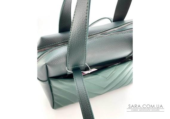 Жіноча сумка «Грейс» темно-зелена WeLassie