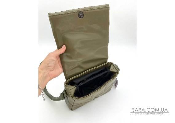 Женская сумка «Дина» оливковая маленькая WeLassie
