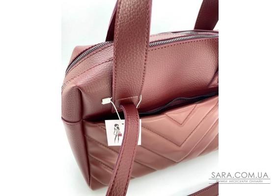 Жіноча сумка «Грейс» бордова WeLassie