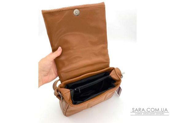 Женская сумка «Дина» рыжая маленькая WeLassie