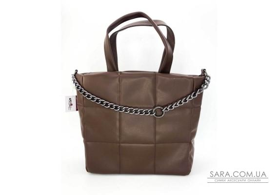 Жіноча сумка «Дейна» шоколадна WeLassie
