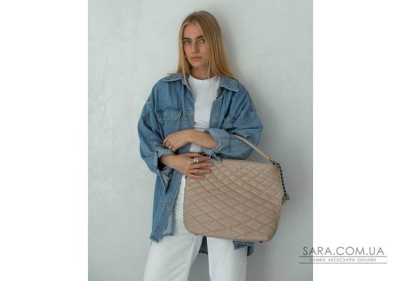 Женская сумка «Эрмин» бежевая WeLassie