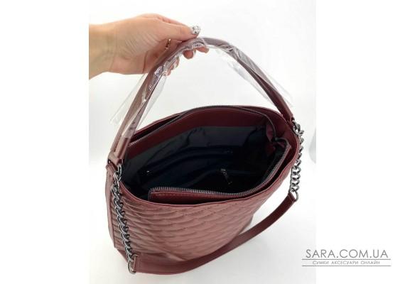 Женская сумка «Эрмин» марсал WeLassie