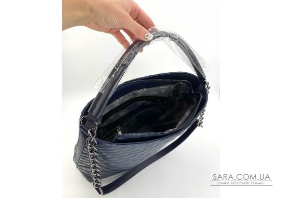 Женская сумка «Эрмин» темно синяя WeLassie