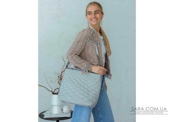 Женская сумка «Эрмин» серая WeLassie