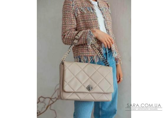 Женская сумка «Дженис» бежевая WeLassie