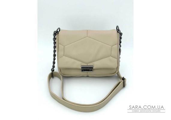 Женская сумка «Санди» бежевая WeLassie