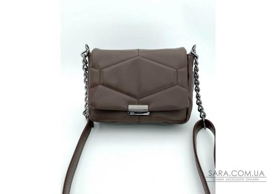 Женская сумка «Санди» шоколадная WeLassie