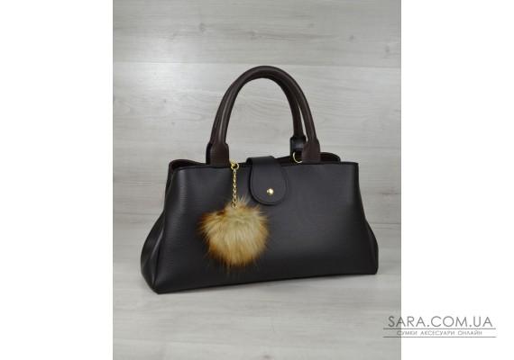 "Молодіжна сумка ""Альба"" чорна з коричневим WeLassie"