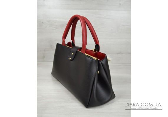 """Молодіжна сумка """"Альба"""" чорна з червоним WeLassie"""