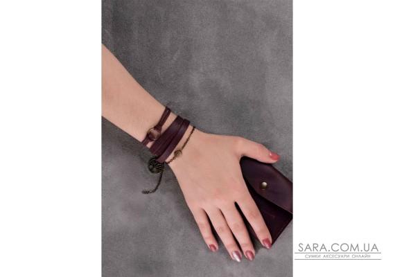 Браслет кожаный с кольцом виноград BlankNote