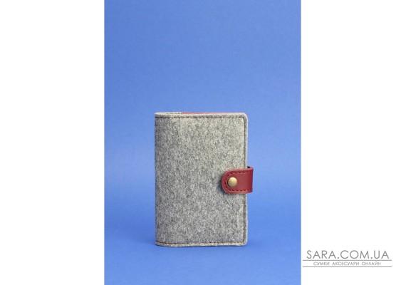 Обкладинка для паспорта 3.0 шкіра + еко-фетр виноград BlankNote