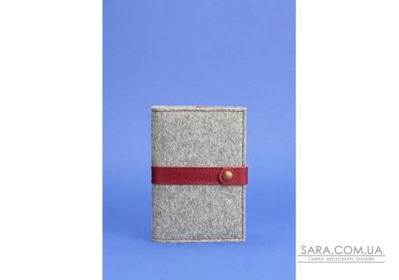 Обкладинка для паспорта 1.1 шкіра + еко-фетр виноград BlankNote