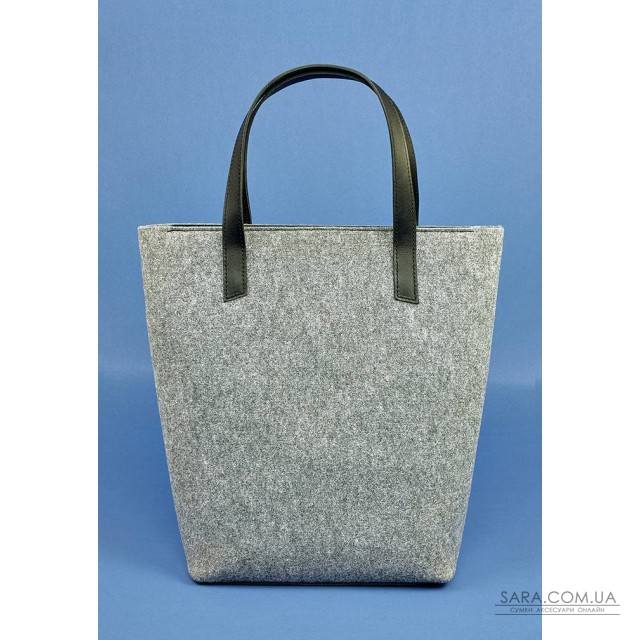 1cb1fb437f97 Купить сумку шоппер D.D. фетр + кожа графит BlankNote. Украина