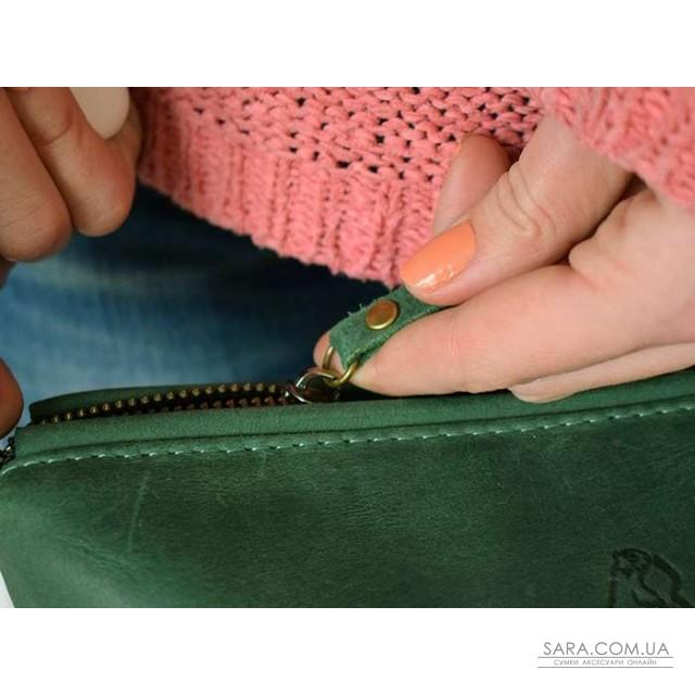 Cумка Babak 898077 кожаная Зелёная дешево. Handmade