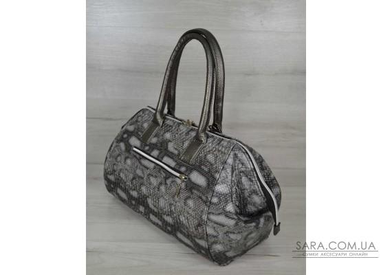 Классическая женская сумка Оливия серая змея WeLassie