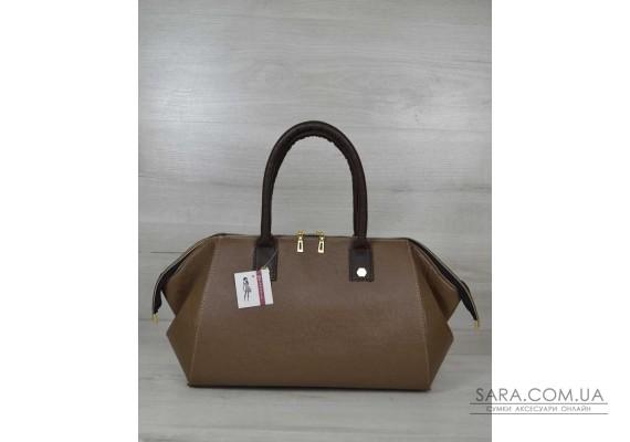 Класична жіноча сумка Олівія кавового кольору WeLassie