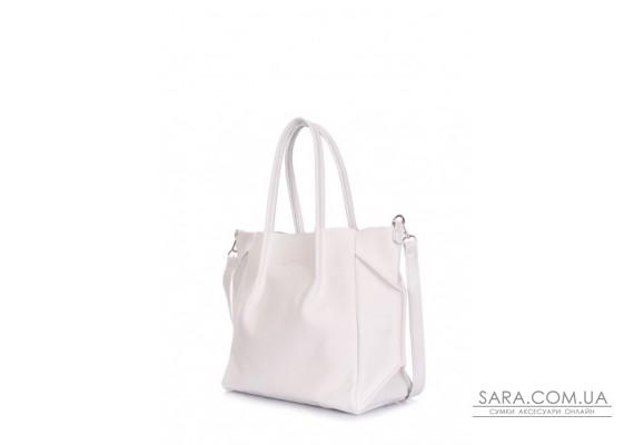 Шкіряна сумка POOLPARTY Soho Remix (pool-soho-rmx-white)