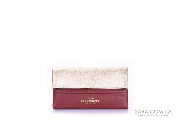 Шкіряна сумочка-клатч POOLPARTY 2NITE (pool-2nite-gold-marsala)
